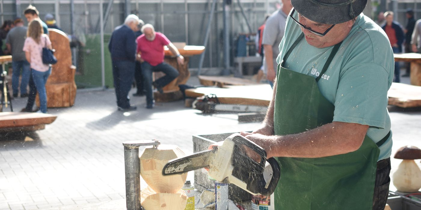 Demonstrationen und Vorträge mit vielen internationalen Holzkünstlern
